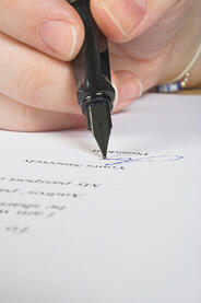 business signature of approval